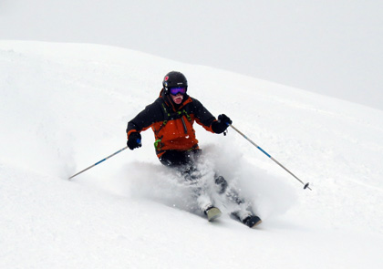 Jeff Sweet at  Selkirk Wilderness Skiing Review